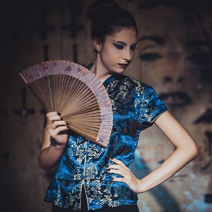 Athanasia Ziogkou model (μοντέλο). Athanasia Ziogkou demonstrating Fashion Modeling, in a photoshoot by Xander Romanov.Photographer: Xander RomanovLocation: Skullbar AthensFashion Modeling Photo #217289