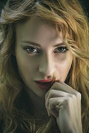 Athina Palidi model (μοντέλο). Photoshoot of model Athina Palidi demonstrating Face Modeling.Face Modeling Photo #175037