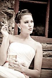 Audrey Balogh model. Photoshoot of model Audrey Balogh demonstrating Face Modeling.Face Modeling Photo #75761