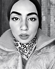 Aya Saleh model. Photoshoot of model Aya Saleh demonstrating Face Modeling.Face Modeling Photo #220631