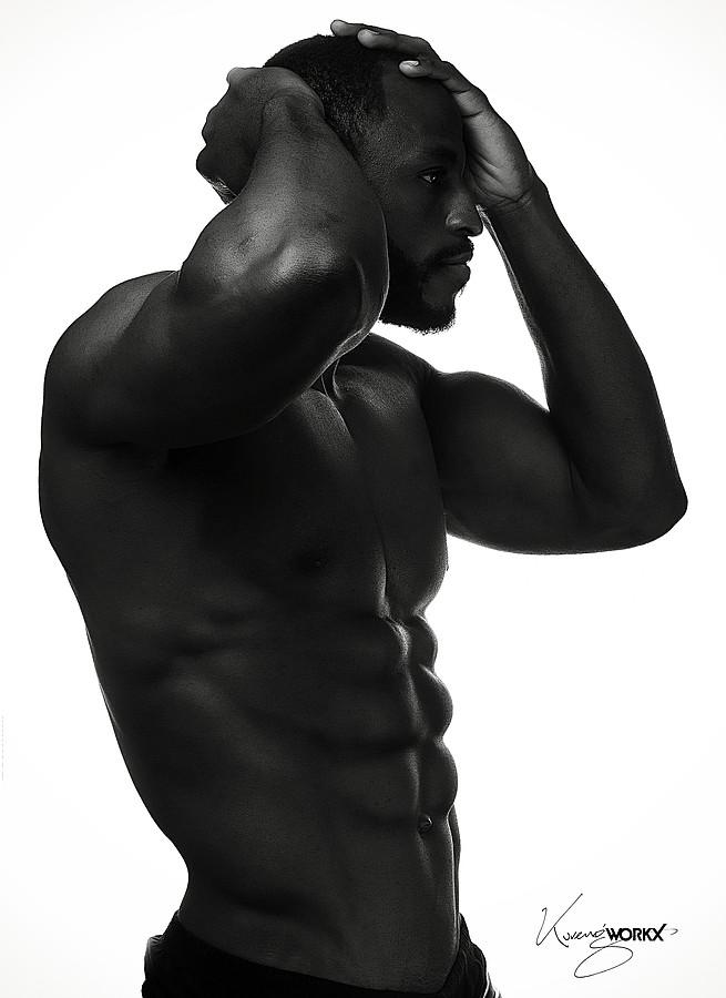 Bayo Abdullazeez model. Photoshoot of model Bayo Abdullazeez demonstrating Body Modeling.Body Modeling Photo #181377