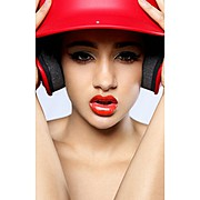 Beija Marie Velez model & fashion designer. Beija Marie Velez demonstrating Face Modeling, in a photoshoot by Alex D Rogers.photographer: Alex D RogersFace Modeling Photo #95461