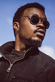 Benard Ogalo model. Photoshoot of model Benard Ogalo demonstrating Face Modeling.Face Modeling Photo #221981