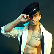 Benji Taylor model. Photoshoot of model Benji Taylor demonstrating Face Modeling.Face Modeling Photo #93314