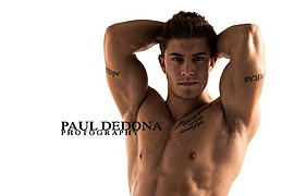 Benji Taylor model. Benji Taylor demonstrating Face Modeling, in a photoshoot by Paul Dedona.Face Modeling Photo #93319