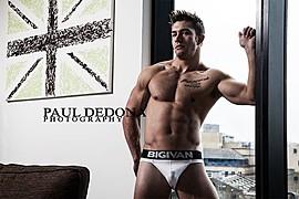 Benji Taylor model. Benji Taylor demonstrating Body Modeling, in a photoshoot by Paul Dedona.Body Modeling Photo #93326