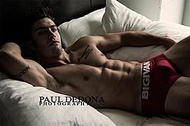 Benji Taylor model. Benji Taylor demonstrating Body Modeling, in a photoshoot by Paul Dedona.Body Modeling Photo #93328