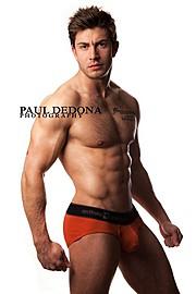 Benji Taylor model. Benji Taylor demonstrating Body Modeling, in a photoshoot by Paul Dedona.Body Modeling Photo #93329