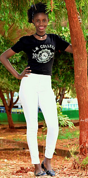 Am benter achieng. A runway model. I was crowned Miss St Theresa kisumu. I participated in brads auditions which took place in Nairobi..i sp