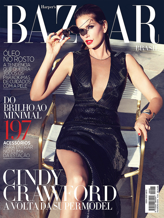 Billy Brasfield makeup artist. Work by makeup artist Billy Brasfield demonstrating Editorial Makeup.==Harpers Bazaar Brazil Magazine Cover, Feb 2013==American supermodel Cindy Crawford covers the February issue of Makeup by Billy Brasfield, photogr