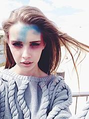 Bree Fry model. Photoshoot of model Bree Fry demonstrating Face Modeling.Face Modeling Photo #85501