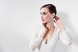 Bree Fry model. Photoshoot of model Bree Fry demonstrating Face Modeling.Face Modeling Photo #96244