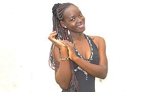 Brenda Ouma model. Photoshoot of model Brenda Ouma demonstrating Face Modeling.Face Modeling Photo #185686