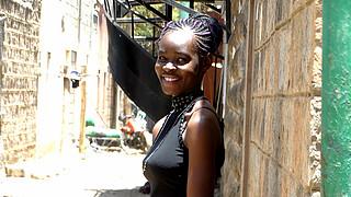 Brenda Ouma model. Photoshoot of model Brenda Ouma demonstrating Face Modeling.Face Modeling Photo #188857