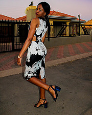 Bridget Tshehla model. Photoshoot of model Bridget Tshehla demonstrating Fashion Modeling.Fashion Modeling Photo #225297