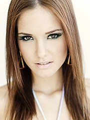 Brooke Baymore model. Brooke Baymore demonstrating Face Modeling, in a photoshoot by Dan Lippitt with makeup done by Monique Zafarana.Photographer Dan LippittMakeup Artist MONIQUE ZAFARANAHair Stylist Voula IsakovFace Modeling Photo #110078