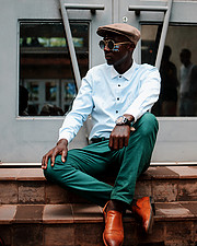 Calvin Majau model. Photoshoot of model Calvin Majau demonstrating Fashion Modeling.The higher you go in your career the more lone it becomesFashion Modeling Photo #204941