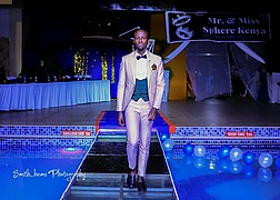 Calvin Majau model. Photoshoot of model Calvin Majau demonstrating Runway Modeling.Runway Modeling Photo #208001