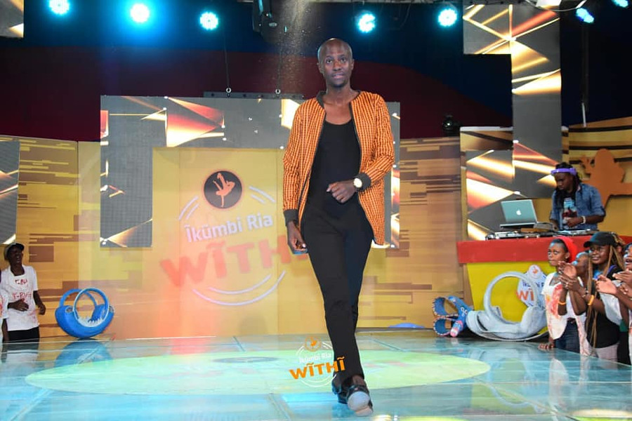 Calvin Majau model. Photoshoot of model Calvin Majau demonstrating Runway Modeling.Tv show at  royal media services.Trained by Aftermath Modelling AgencyRunway Modeling Photo #212287