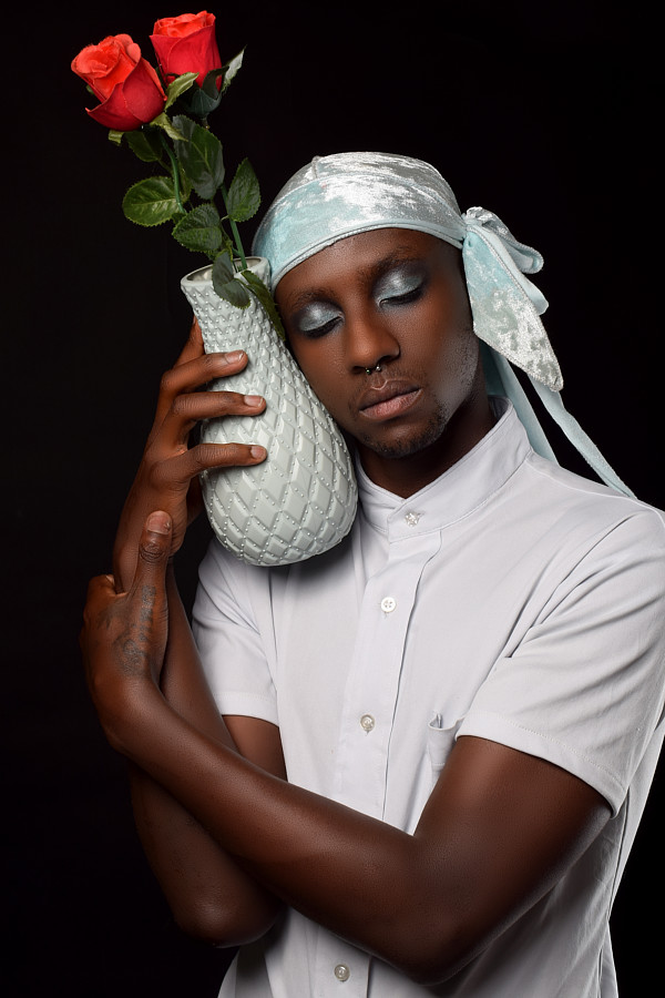 Calvin Majau model. Photoshoot of model Calvin Majau demonstrating Commercial Modeling.Urban studio photographyStyling: Dalphine MajauCommercial Modeling Photo #227704