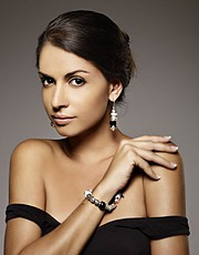 Camila Mendes model & photographer. Photoshoot of model Camila Mendes demonstrating Face Modeling.Bracelet,EarringsFace Modeling Photo #109957