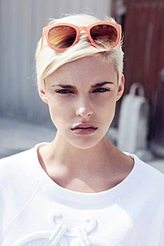 Camille Toboll model. Photoshoot of model Camille Toboll demonstrating Face Modeling.Face Modeling Photo #70261