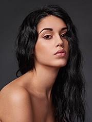 Carmen Vantini model (modella). Photoshoot of model Carmen Vantini demonstrating Face Modeling.Face Modeling Photo #145185
