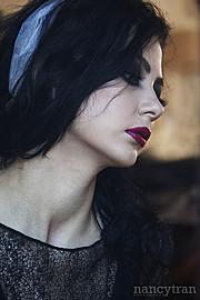 Cassandra Phillips model. Photoshoot of model Cassandra Phillips demonstrating Face Modeling.Face Modeling Photo #91208
