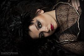 Cassandra Phillips model. Photoshoot of model Cassandra Phillips demonstrating Face Modeling.Face Modeling Photo #91211