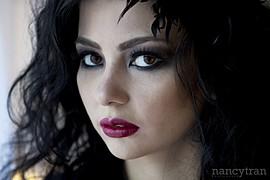 Cassandra Phillips model. Photoshoot of model Cassandra Phillips demonstrating Face Modeling.Face Modeling Photo #91212