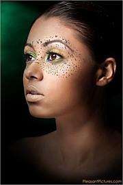 Catriona Armour makeup artist & hair stylist. Work by makeup artist Catriona Armour demonstrating Creative Makeup.Creative Makeup Photo #59662