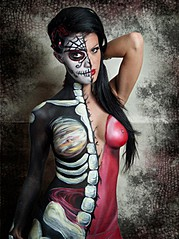 Catriona Armour makeup artist & hair stylist. Work by makeup artist Catriona Armour demonstrating Body Painting.Body Painting Photo #59675