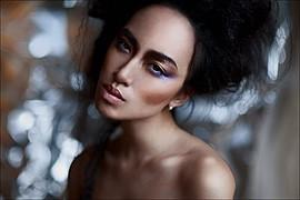 Chana Nguyen model (модель). Photoshoot of model Chana Nguyen demonstrating Face Modeling.Face Modeling Photo #135090