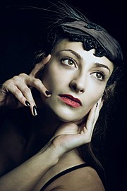 Chantal Lamour model. Photoshoot of model Chantal Lamour demonstrating Face Modeling.Face Modeling Photo #102856