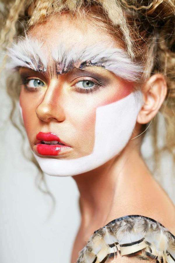 Chantelle Baker makeup artist. Work by makeup artist Chantelle Baker demonstrating Creative Makeup.Eyebrow Extensions,Face PaintingCreative Makeup Photo #79143