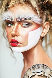 Chantelle Baker makeup artist. Work by makeup artist Chantelle Baker demonstrating Creative Makeup.Face Painting,Eyebrow ExtensionsCreative Makeup Photo #79143
