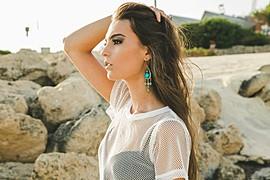 Chiara Fragomeni model. Photoshoot of model Chiara Fragomeni demonstrating Face Modeling.Face Modeling Photo #131746