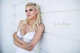 Christiana Karnezi model (Κλεοπάτρα Χριστιάνα Καρνέζη μοντέλο). Photoshoot of model Christiana Karnezi demonstrating Face Modeling.Face Modeling Photo #221941