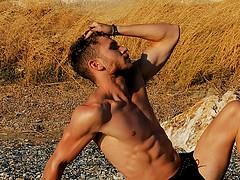 Christos Samartzoglou model (μοντέλο). Photoshoot of model Christos Samartzoglou demonstrating Body Modeling.Body Modeling Photo #225172
