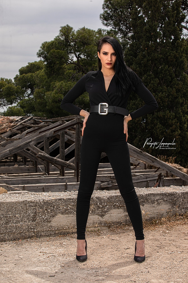 Chrysa Androni model (μοντέλο). Photoshoot of model Chrysa Androni demonstrating Fashion Modeling.Official Shoot for MextonKallitheaPhoto-Edit-Retouch By: Panagiotis LimperopoulosModel: Χρύσα ΑνδρώνηLocation: Néa Ionía, GreeceEquipment Used: Godox