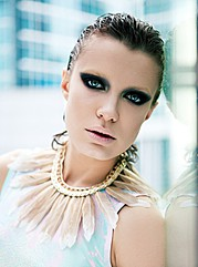 Chucha Babuchina model (модель). Photoshoot of model Chucha Babuchina demonstrating Face Modeling.Face Modeling Photo #103264