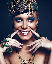 Chucha Babuchina model (модель). Chucha Babuchina demonstrating Face Modeling, in a photoshoot with Makeup done by Elena Krasheninnikova.makeup: Elena KrasheninnikovaFace Modeling Photo #190861