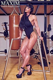Cindy Landolt fitness model. Photoshoot of model Cindy Landolt demonstrating Body Modeling.Body Modeling Photo #170671