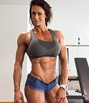 Cindy Landolt fitness model. Photoshoot of model Cindy Landolt demonstrating Body Modeling.Body Modeling Photo #174280