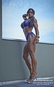 Cindy Landolt fitness model. Cindy Landolt demonstrating Body Modeling, in a photoshoot by Marcus Ernst.photographer Marcus ErnstBody Modeling Photo #73882