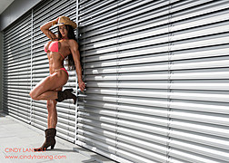 Cindy Landolt fitness model. Photoshoot of model Cindy Landolt demonstrating Body Modeling.Body Modeling Photo #94907