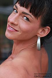 Cindy Landolt fitness model. Photoshoot of model Cindy Landolt demonstrating Face Modeling.Face Modeling Photo #94924