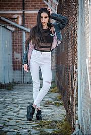 Dafni Lazaridou model (μοντελο). Photoshoot of model Dafni Lazaridou demonstrating Body Modeling.Body Modeling Photo #217245