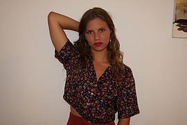 Danae Melissinou (Δανάη Μελίσσηνου) face. Photoshoot of model Danae Melissinou demonstrating Fashion Modeling.Fashion Modeling Photo #201871