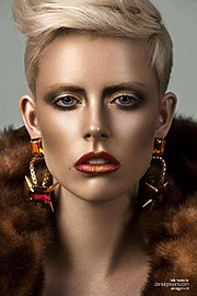 Danial Gowans photographer, Erin Bigg makeup artist. Work by photographer Danial Gowans demonstrating Portrait Photography in a photo-session with the model Kelly Hockey.Photography and Retouch: Danial GowansEarrings: LAMBERTEarringsPortrait Photog